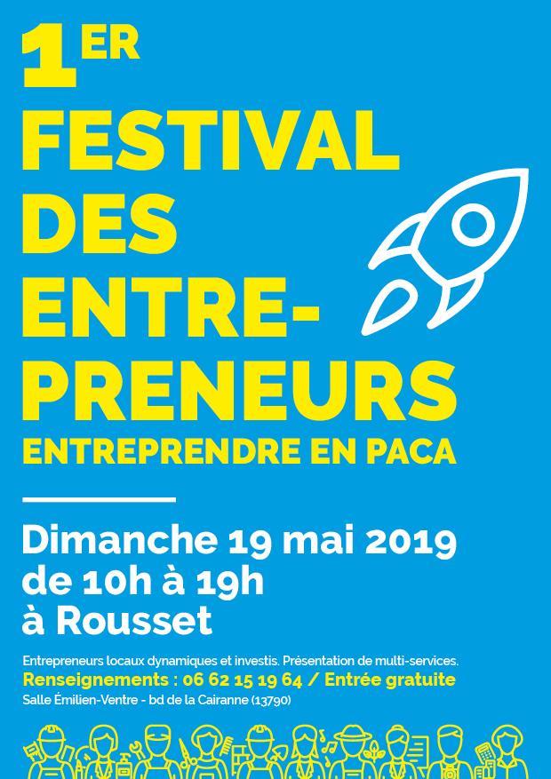 Affiche festival des entrepreneurs du dimanche 19 mai 2019