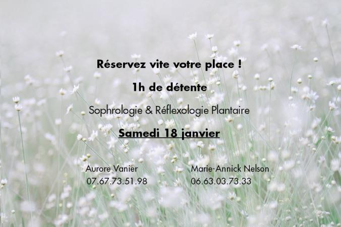 Affiche de sophrologie & réflexologie plantaire